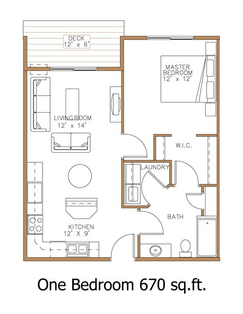 1 Bedroom Unit Layout by Hawley Mn Apartment Floor Plans Great Properties Llc