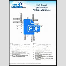 Free Printable High School Space Science Worksheet