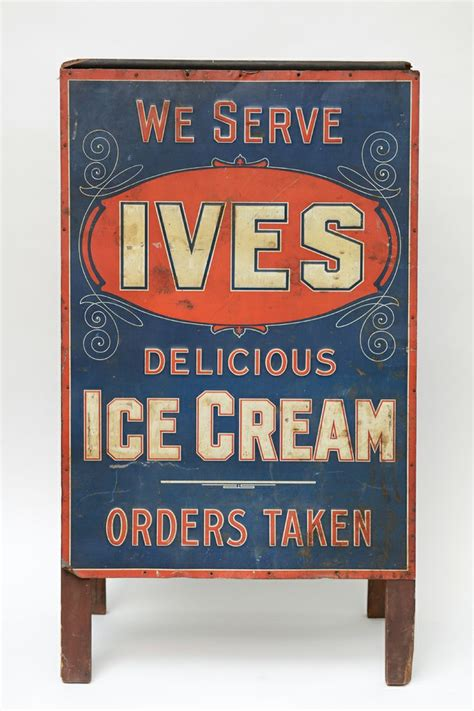 rare metal quot ives ice cream quot sandwich board from a unique collection of antique and modern