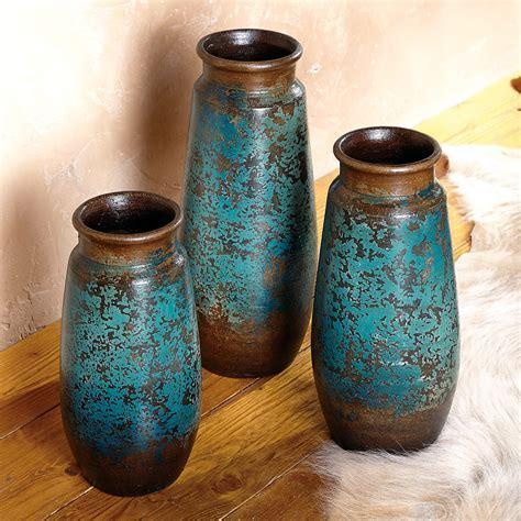 San Juan Cobalt Vases   Set of 3