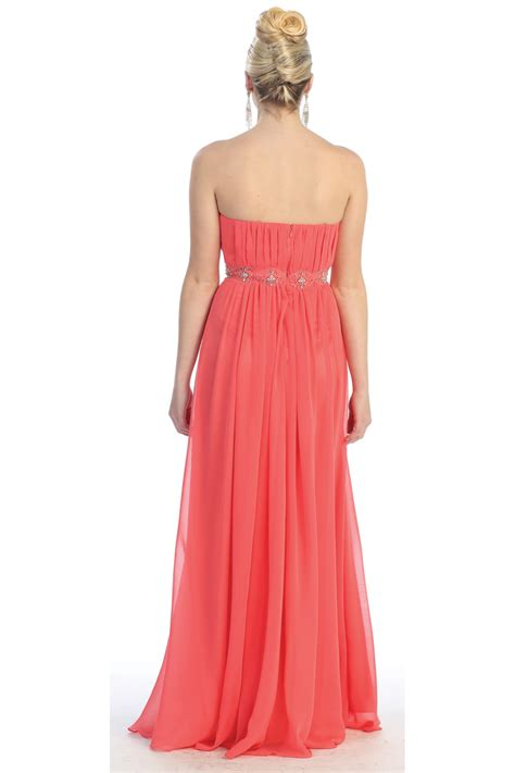 long evening simple strapless  size long formal gown