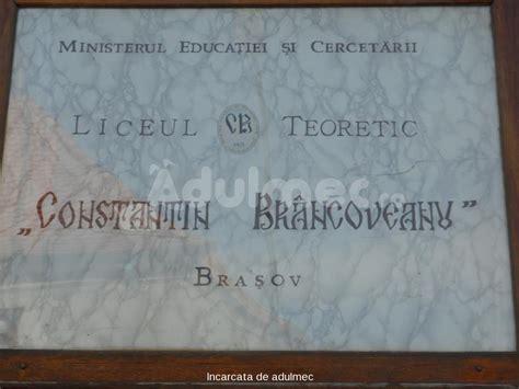 liceul teoretic constantin brancoveanu brasov licee