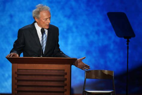Obama Empty Chair by The Icon Vs The Ego Clint Eastwood Vs Barack Obama