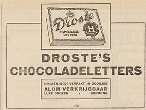 droste advertentie 1926 droste pinterest letters With dutch chocolate letters droste
