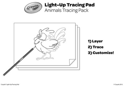 Animals Tracing Pack Coloring Page