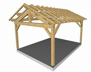 Charpente Traditionnelle Bois En Kit : charpente abri r gion auvergne ~ Premium-room.com Idées de Décoration