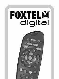 Foxtel Remote Control Sd     Instruction Manual Faq User