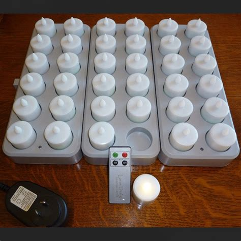 rechargeable candles flameless led tea lights  remote