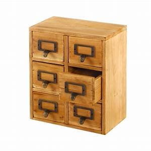 Wooden, Storage, Drawers, 6, Drawers, 23, X, 15, X, 27cm, Shabby, Cabinet
