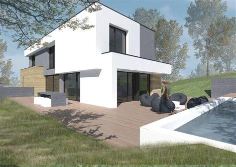 maison contemporaine ossature bois en seine et marne seine et marne