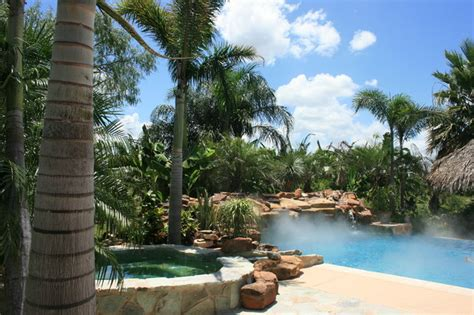 tropical pool landscaping scape idea outdoor pools and landscaping ideas houzz bathrooms