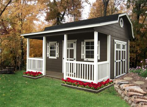 Shed With Porch by Products Miller S Storage Barns