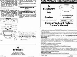 Emerson Lk65 Owners Manual Bp7330 New