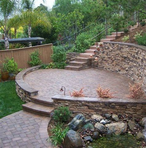 Sloped Backyard Landscaping Ideas by Retaining Wall Ideas For Sloped Backyard Yard Garden