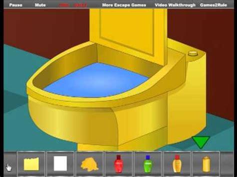 golden bathroom escape video walkthrough youtube