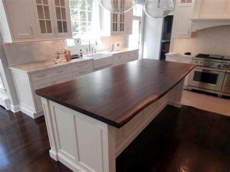 wood top kitchen island live edge wood countertops custom