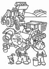 Builder Bob Coloring Printable Friends 4kids Colouring Sheets Cartoon Clipart Clip Cartoons Library Getdrawings Drawing sketch template