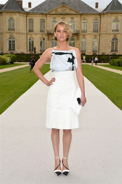 Jennifer Lawrence Christian Dior Fashion Show During