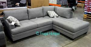 costco true innovations fabric sofa chaise 79999 With costco sectional sofa 799
