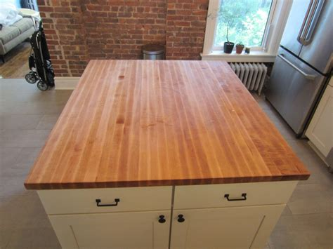 Custom Butcher Block Kitchen Island Top By Elias Custom