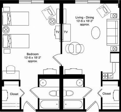 Floor Plans Apartment Studio Motel Hotel Bedroom