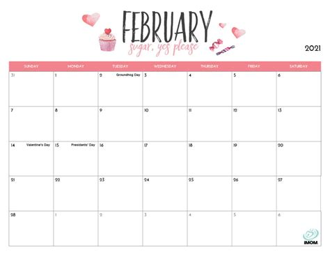 15+ 2021 Calendar Printable Imom  Pictures
