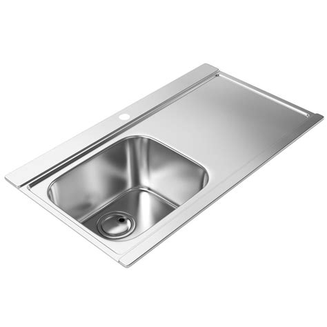 kitchen sink with drainer abode maxim stainless steel kitchen sink 1 0 bowl and rh 8809