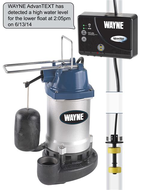 wayne water systems introduces  advantext sump pump