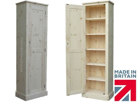 Solid Wood Slim Cupboard, Tall Linen, Pantry, Hallway