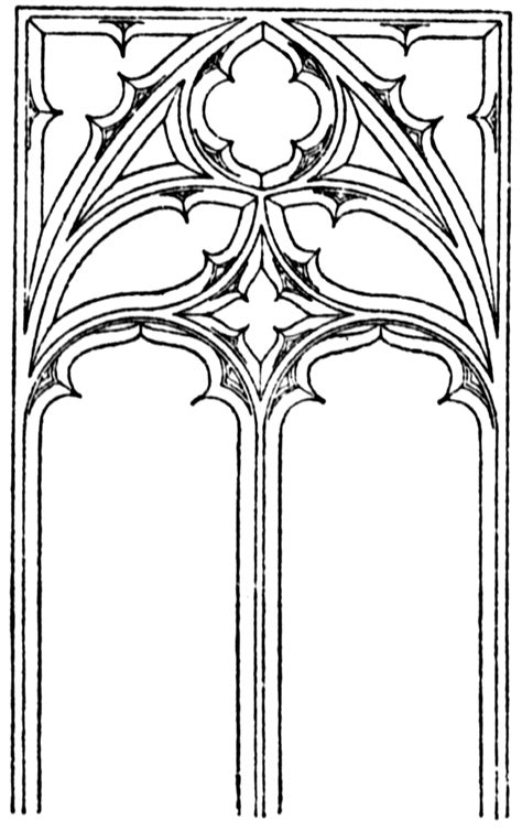 gothic tracery clipart