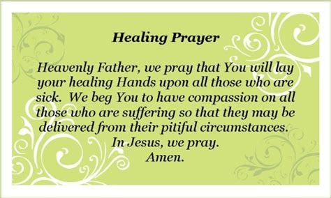 short healing prayer faith