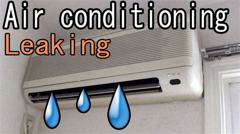 air conditioning aircon how to fix a water leaking
