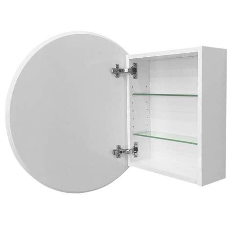 cibo design mm white circle mirror cabinet  small