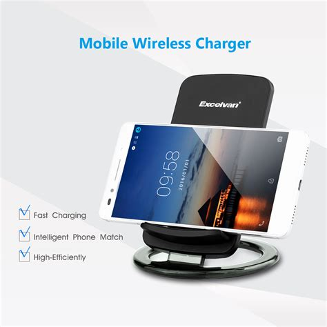 led l wireless charger qi led induktive ladestation wireless charger charging