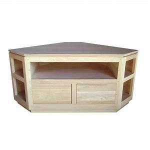 Meuble Tv En Coin : meuble tv d 39 angle en bois 120cm helena ~ Teatrodelosmanantiales.com Idées de Décoration