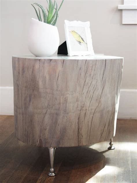 diy stylish tree trunk coffee tables   steal  show