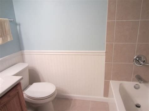 beadboard wainscoting modern bathroom  yoder
