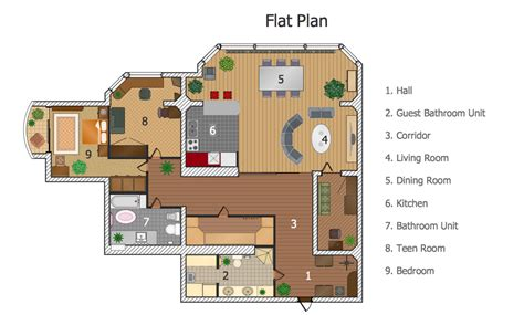 how to design a floor plan floor plans solution conceptdraw com