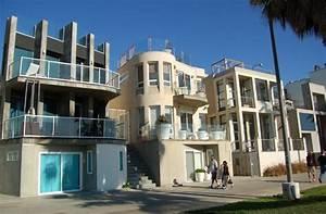 Modern, Architecture, Houses, Along, Venice, Beach
