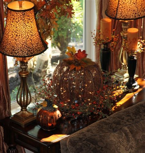 fall room decorating ideas living room window table decorated for fall