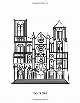 Coloring Gothic Europe Heart Cathedrals Famous Hands Churches sketch template