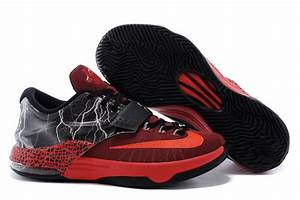 "Nike KD 7 Basketball Shoes ""Lighting"" Red Black 