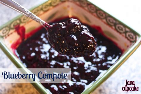 what is a compote blueberry compote recipe dishmaps