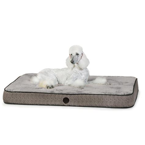 picture shows k h superior orthopedic bed large gray