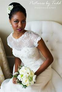 Elizabeth Filmore Gown; Pictures by Todd Photography beautiful Black bride with clean classic