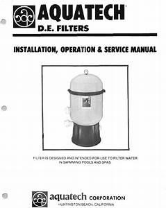 Pentair Swimming Pool Filter Aquatech User Guide