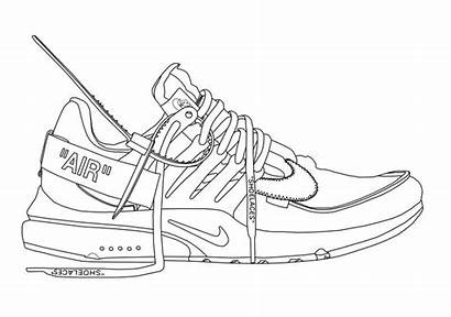 Shoes Presto Shoe Outline Nike Air Drawings
