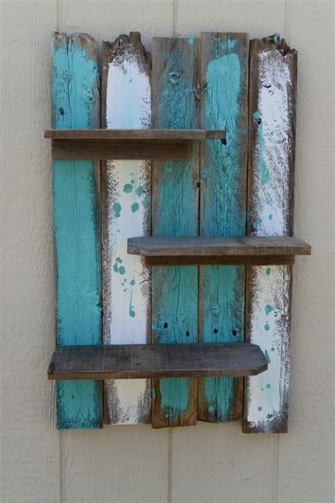 nautical bathroom decor simple rustic pallet wall shelf pallet ideas recycled