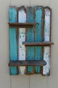 Simple Rustic Pallet Wall Shelf Pallet Ideas: Recycled