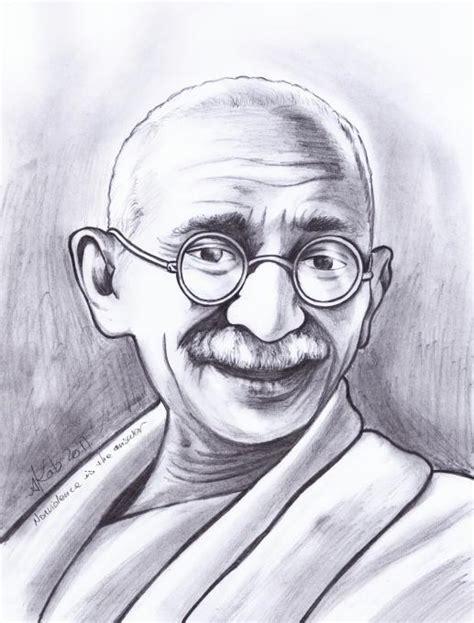 mahatma gandhi drawing drawing skill